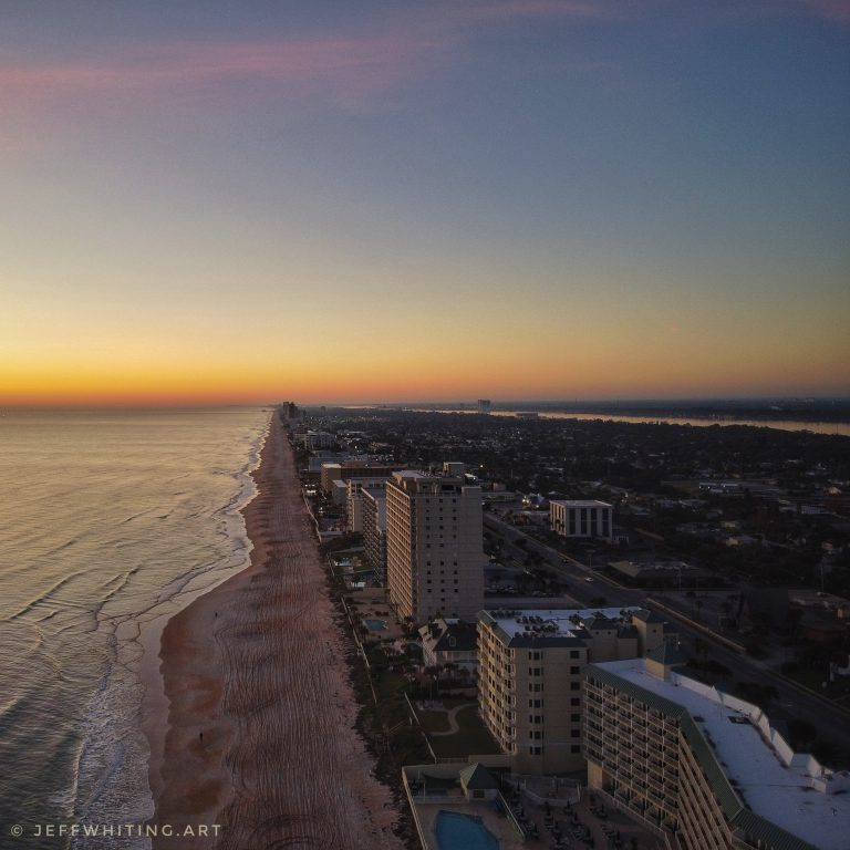 Drone Shot – Sunrise from the Beach