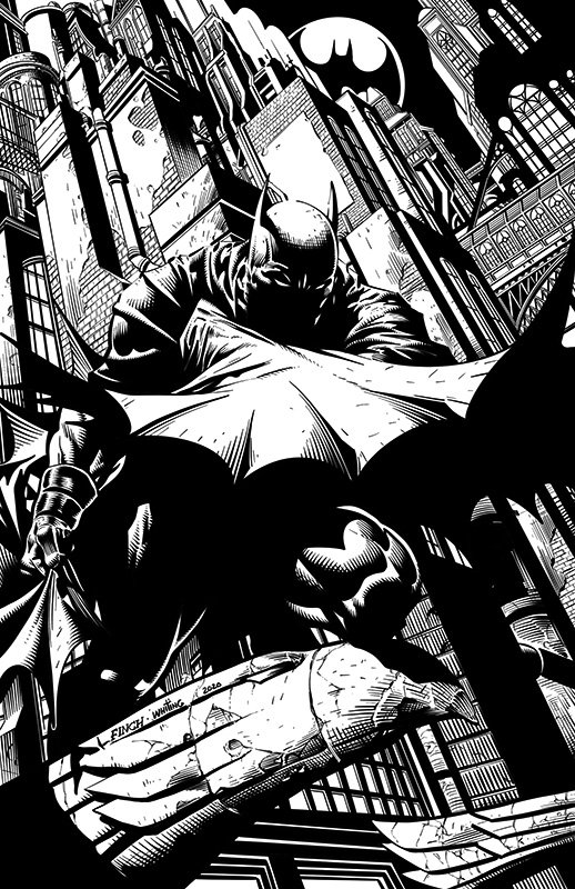 Comic Inking Time Lapse – Batman