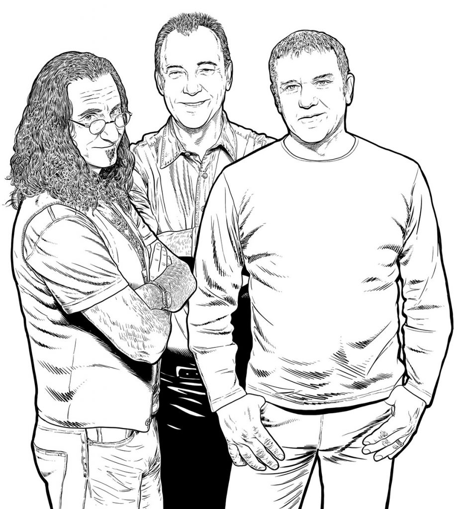 Rush, drawn in ProCreate by Jeff Whiting